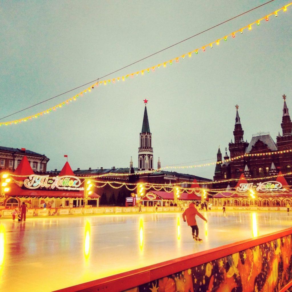 Новый Год 2020 в Москве: каток на Красной Площади
